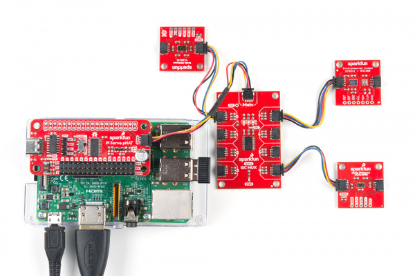 Hardware assembly with Raspberry Pi 3B with Pi Servo pHat
