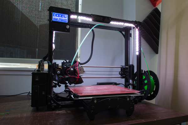 Non Addressable LEDs on Illuminating a 3D Printer's Bed