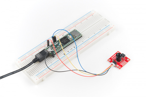 MLX90640 Plugged into Breadboard