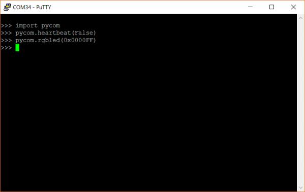 MicroPython on the Pycom LoPy4