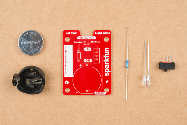 Picture of all components in the kit