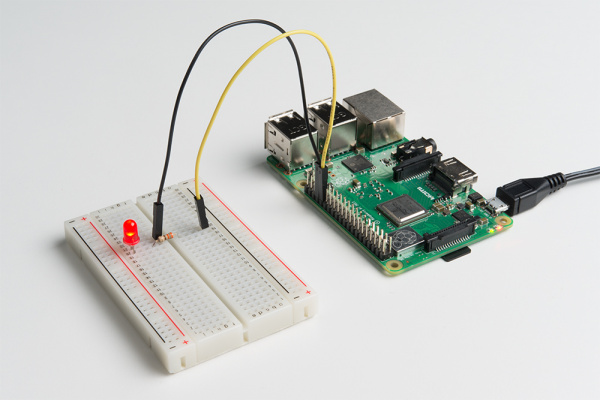 Blinking an LED with Python on a Raspberry Pi