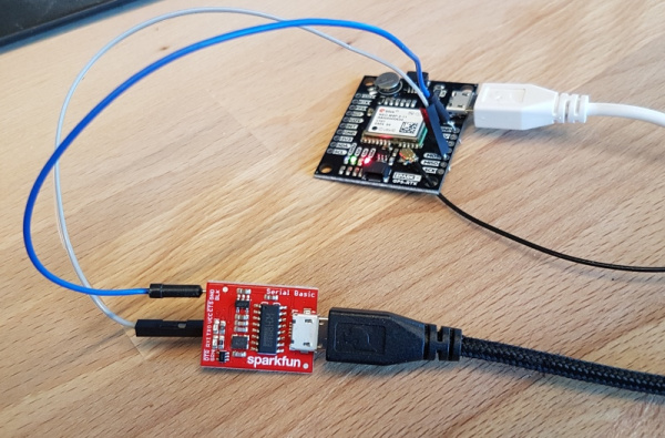 Serial basic connected to NEO-M8P