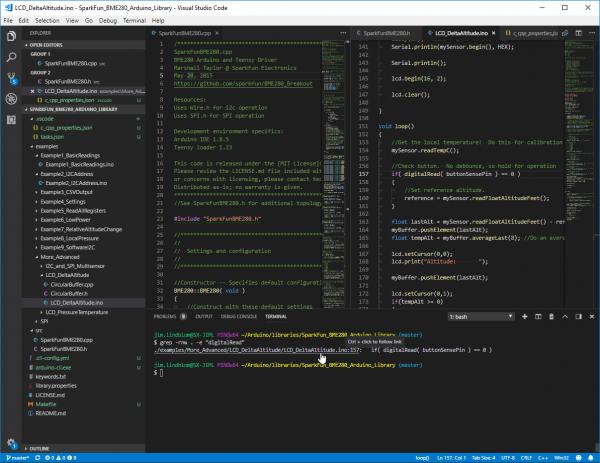 VS Code terminal usage