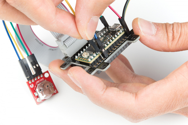 Rewiring the DS1307 RTC and Teensy with the SmartLED Shield