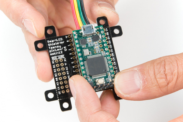 Teensy 3.2 Stacked on SmartLED Shield