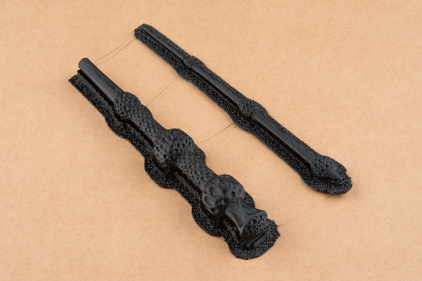 3D Printed Wand in 2 Pieces with Raft Support
