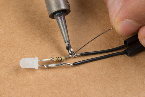 Solder Wire to Terminals of LED