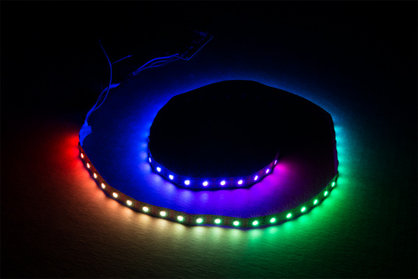 LED strand example in the dark