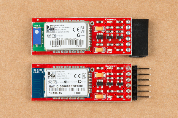 Two Bluetooth Mates with different headers