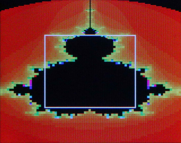 Mandelbrot Set Fractal Shown with HyperDisplay