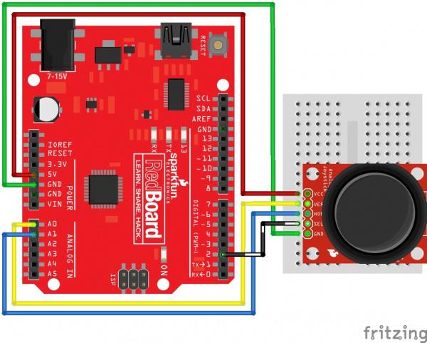 Thumb Joystick Circuit Arduino