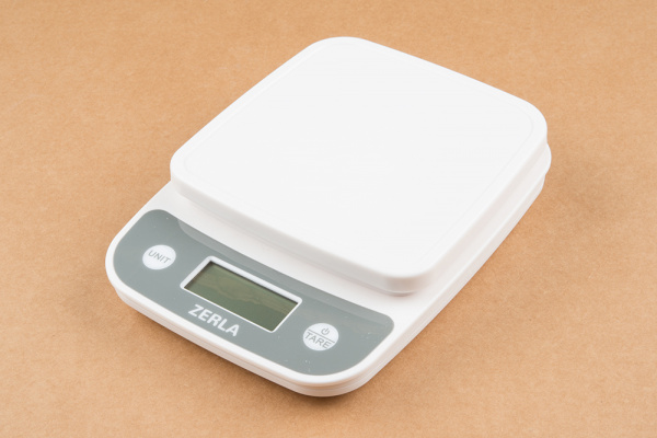 A common 5kg max kitchen scale
