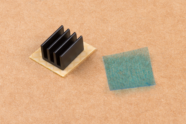 Heatsink connected to thermal tape