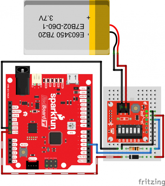 Fritzing Diagram TPL5110 Nano Power Timer