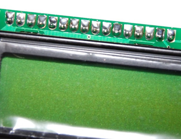 Top View of Soldered Header Pins