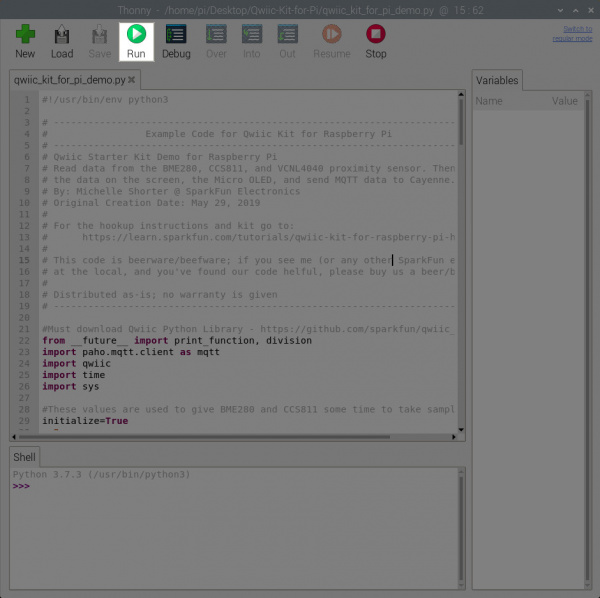 Run Demo via Python Editor
