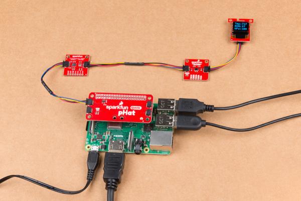 BME280 sensor data on the micro OLED