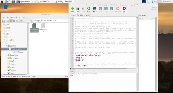 Run Example via Python Editor