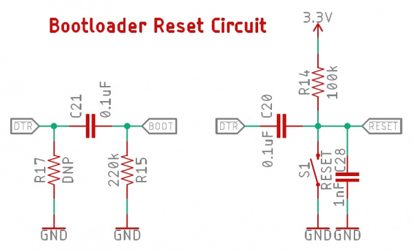 Recommended bootloading circuit for Artemis