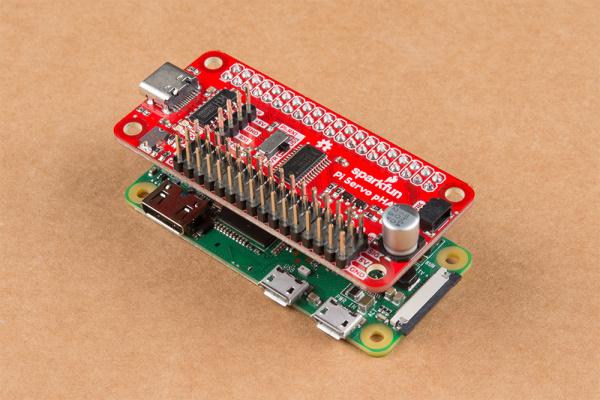 Pi Servo pHAT on Raspberry Pi ZeroW
