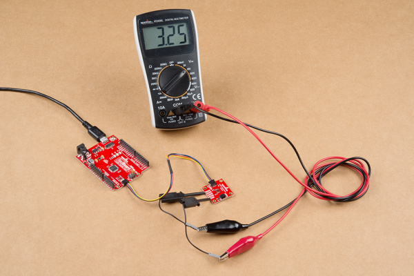 Multimeter Connected to INT pin