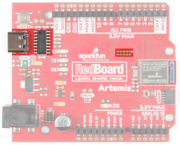 RedBoard Artemis USB C and JTAG ports