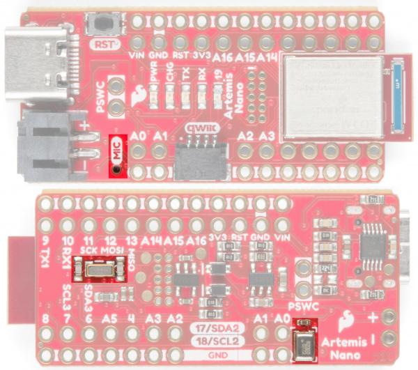 SparkFun Artemis Nano mic and RTC