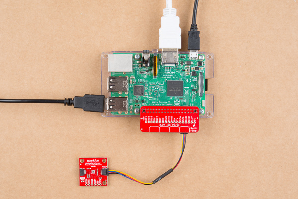 Hardware assembly with Raspberry Pi 3B with Qwiic HAT
