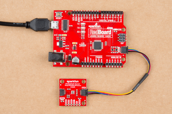 Hardware assembly with RedBoard Qwiic
