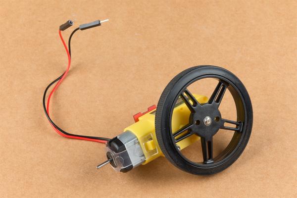 hobby motor with wheel