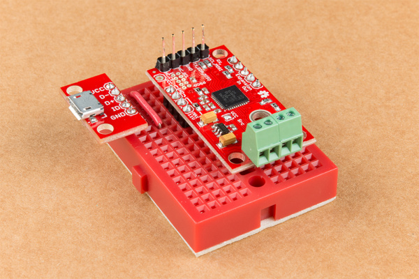 motor driver and usb to breadboard
