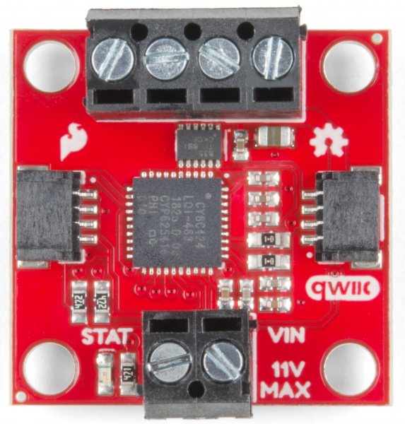 Front of Qwiic Motor Driver