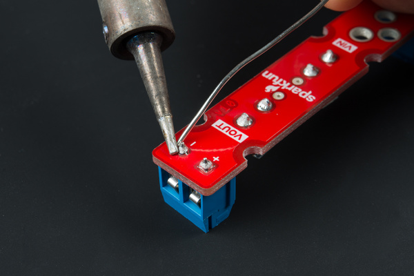 Solder the Screw Terminal on VOUT