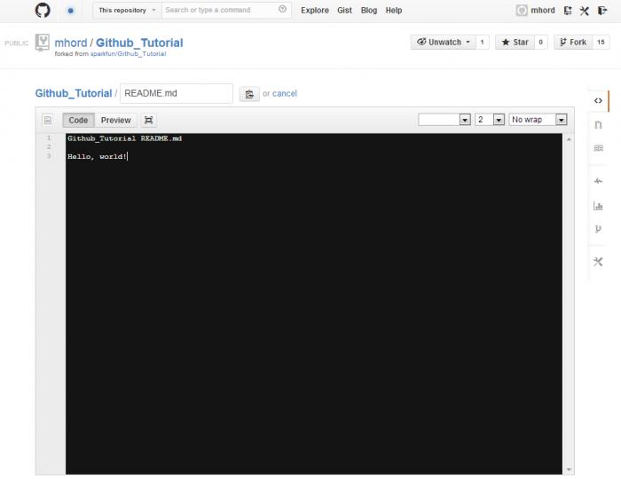 GitHub file editor
