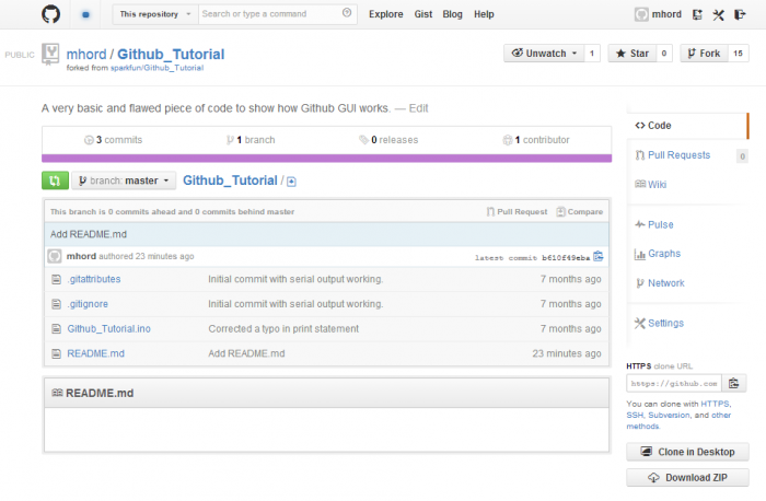 Look! A new file on GitHub!