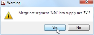 Dialog asking about merging net segments