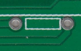 Annular ring on resistor