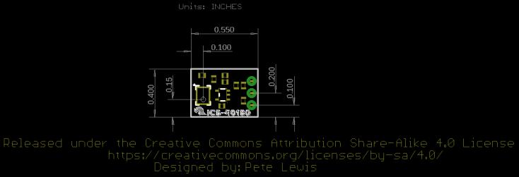 Board Dimensions for ICS-40180